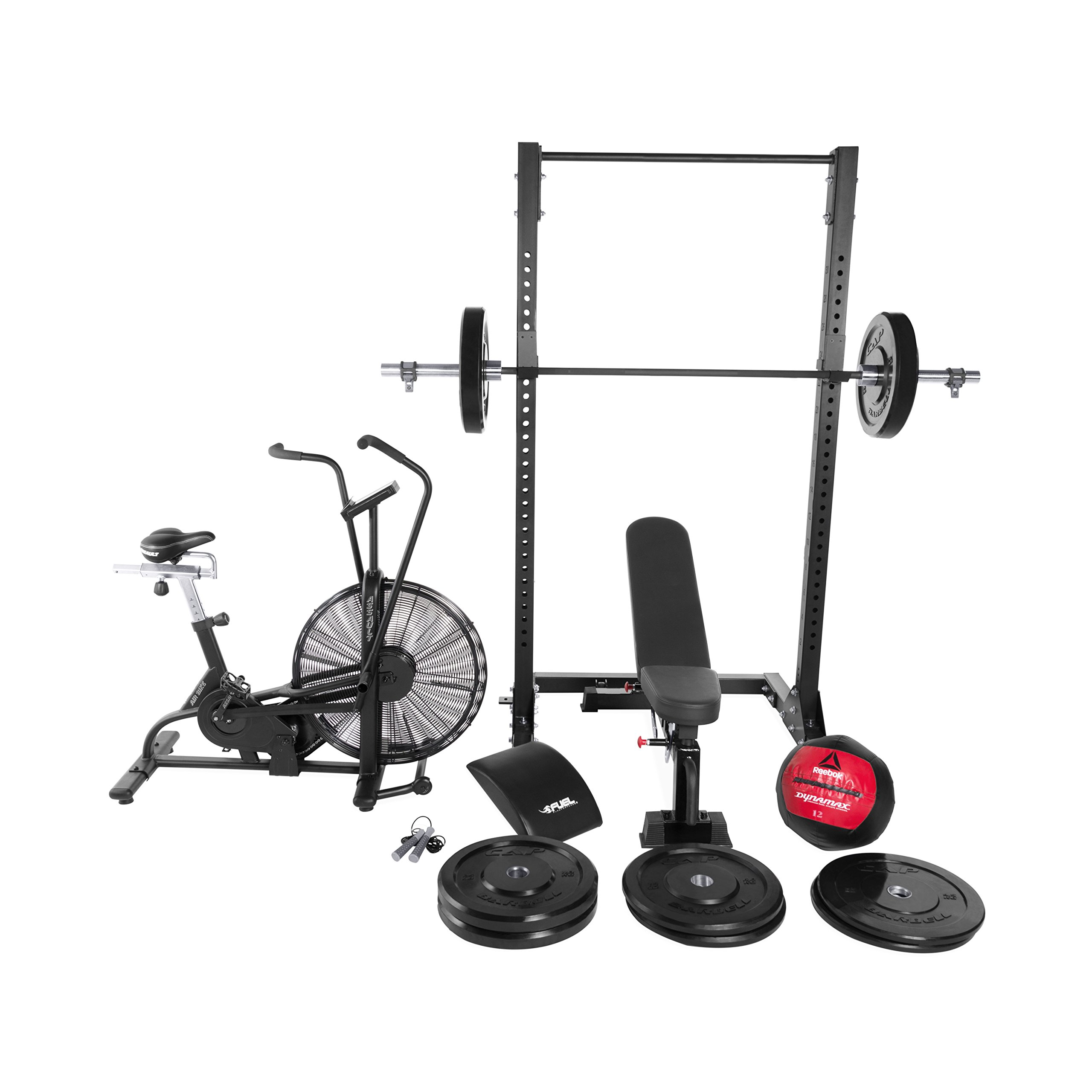 WF Athletic Supply LifeCORE Fitness Assault Air Bike BRAVO Cross Training Combo Package by WF Athletic Supply