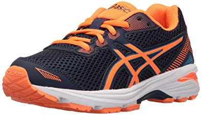 ASICS Boys' GT-1000 5 GS Running Shoe, Indigo Blue/Hot Orange