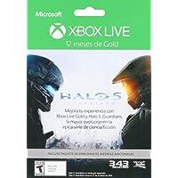 Membresía 12 meses Xbox Live Gold Halo 5 + DLC - Special Limited Edition