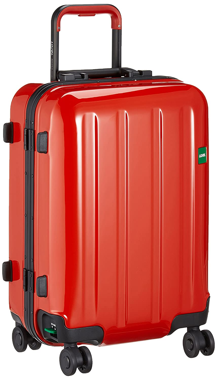 [ロジェール] スーツケース機内持込可 保証付 37L 54.5cm 3.6kg NOVIGO-S B0763M8BBKレッド
