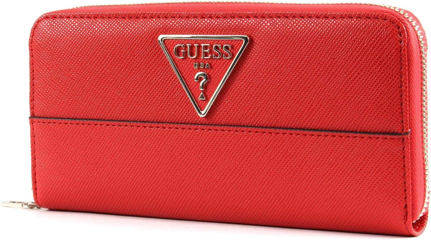 Guess Damen Peony Shine Large Zip Around Wallet Geldbörse, merhfarbig, Einheitsgröße