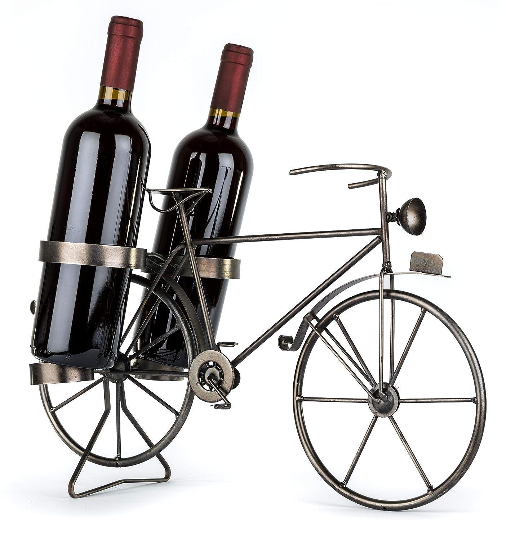 Flaschenhalter Geschenk f/ür Radfahrer Geschenkidee f/ür Fahrradfahrer Solinga Deko Weinflaschenhalter Fahrrad aus Metall