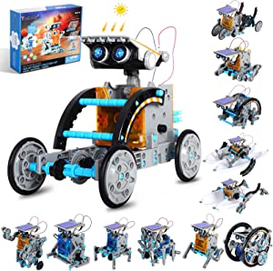 Tomons STEM Projects   12-in-1 Solar Robot Toys, Education Science Experiment Kits for Kids Ages 8-12, 190 Pieces Building Set for Boys Girls