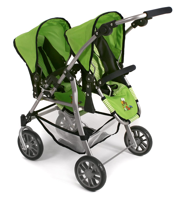 Amazon.com: Bayer Chic 2000 – Tandem Pushchair (Twinny Twin Doll ...