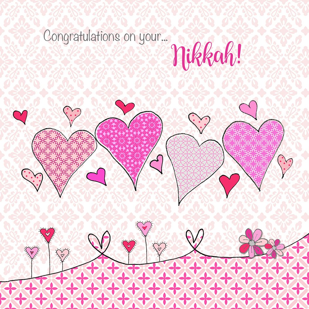 Congratulations On Your Nikkah Islamic Card Muslim Wedding