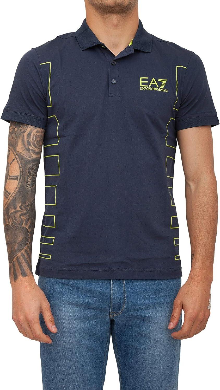 Emporio Armani Polo T Shirt EA7 Hombre 3GPF78 PJ02Z Azul Turquesa ...