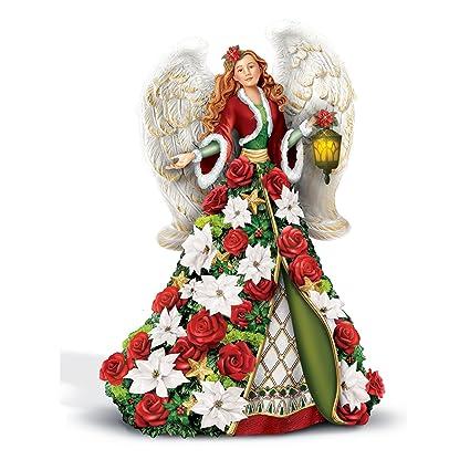 The Bradford Exchange apos;bendiciones de la temporada – Figura decorativa de ángel –