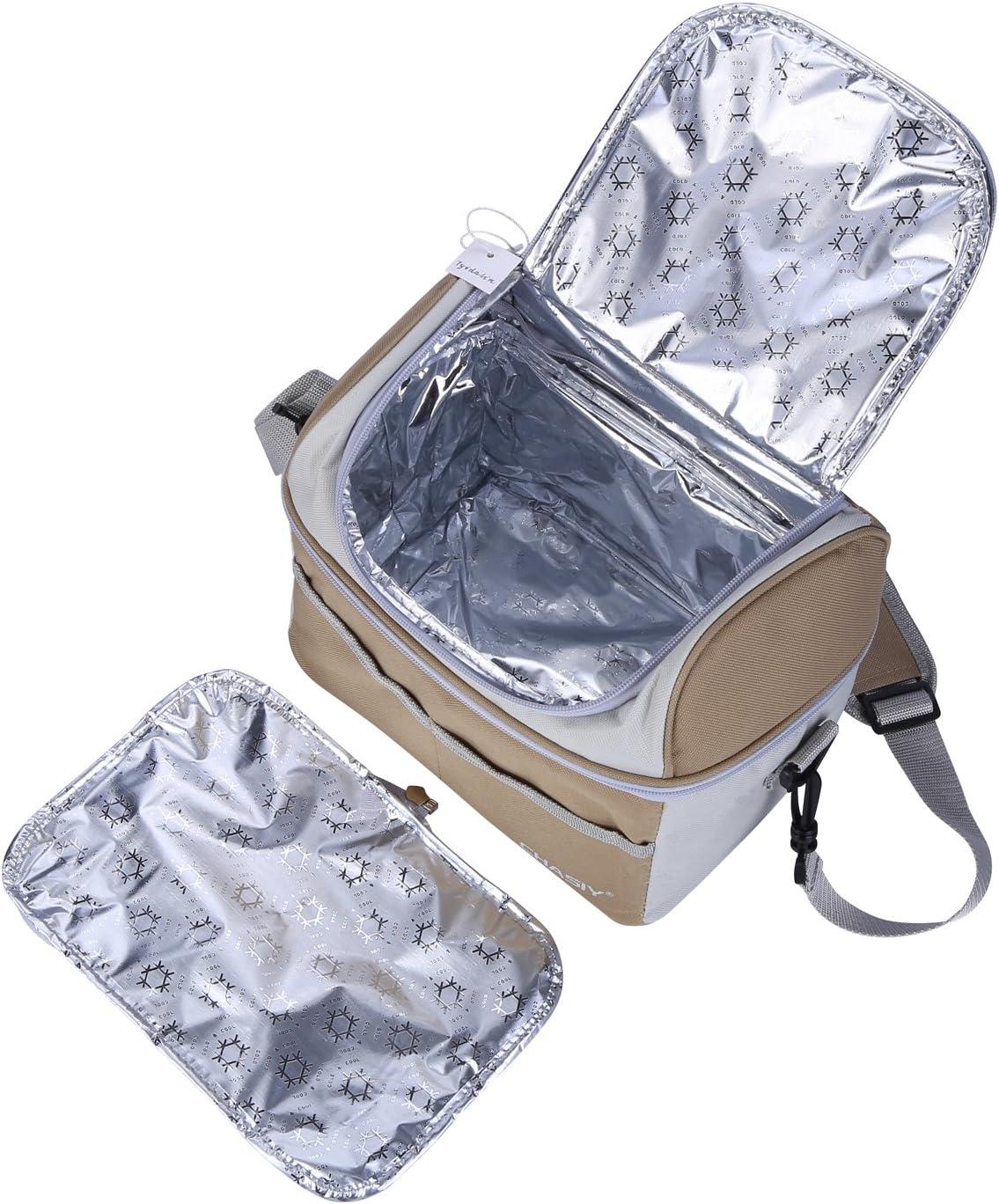 tyidalin 18L grand avec isolant du sac /à dos Frigo pour famille de voyage Barbecue Camping Pique-nique D/éjeuner noir