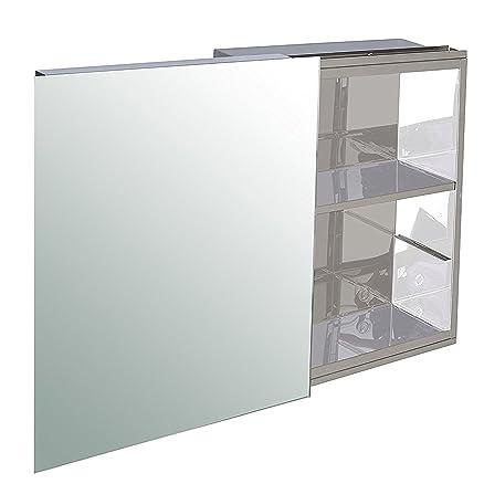 klaxon mirror cabinet stainless steel frameless sliding bathroom mirror cabinet white