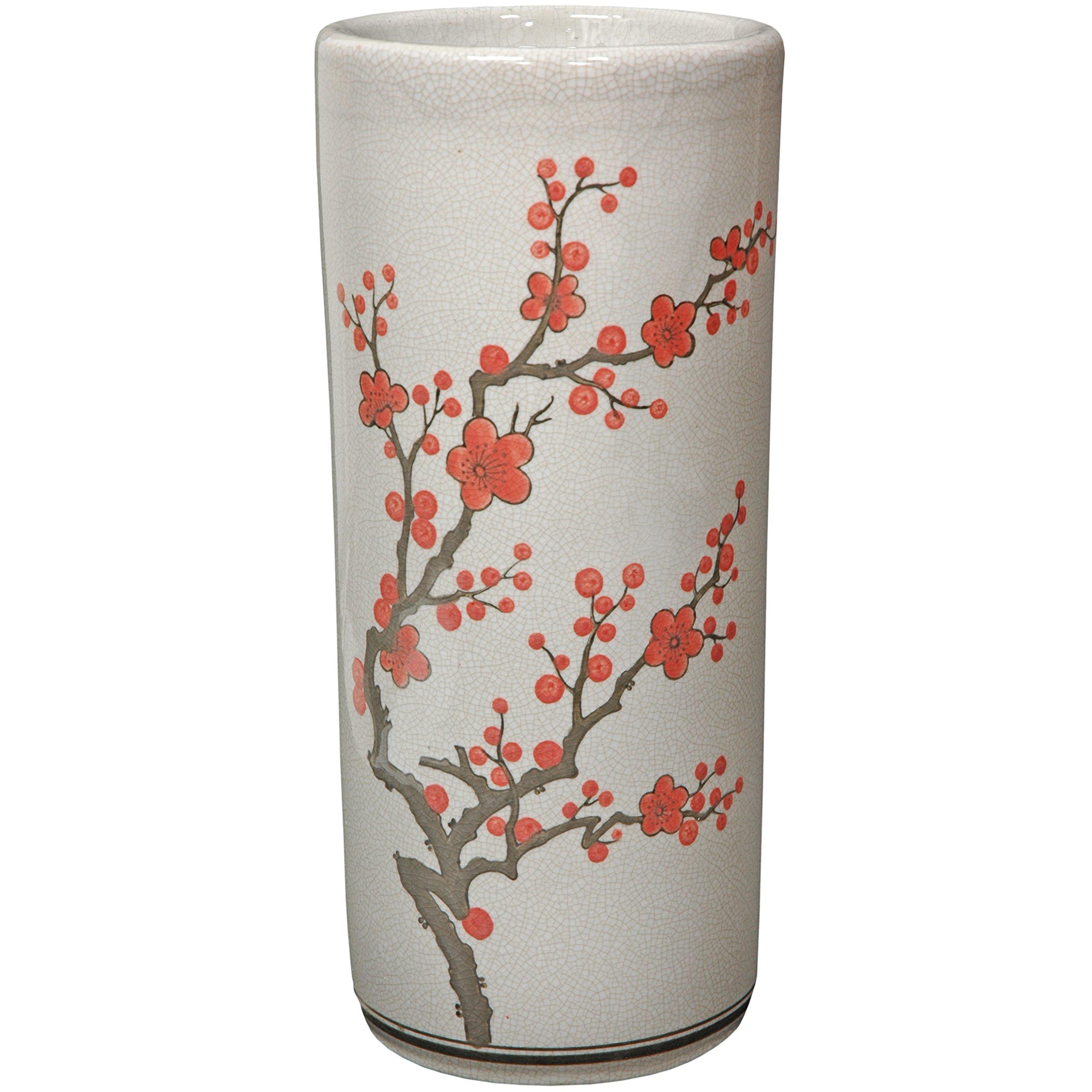 Oriental Furniture 18'' Cherry Blossom Umbrella Stand