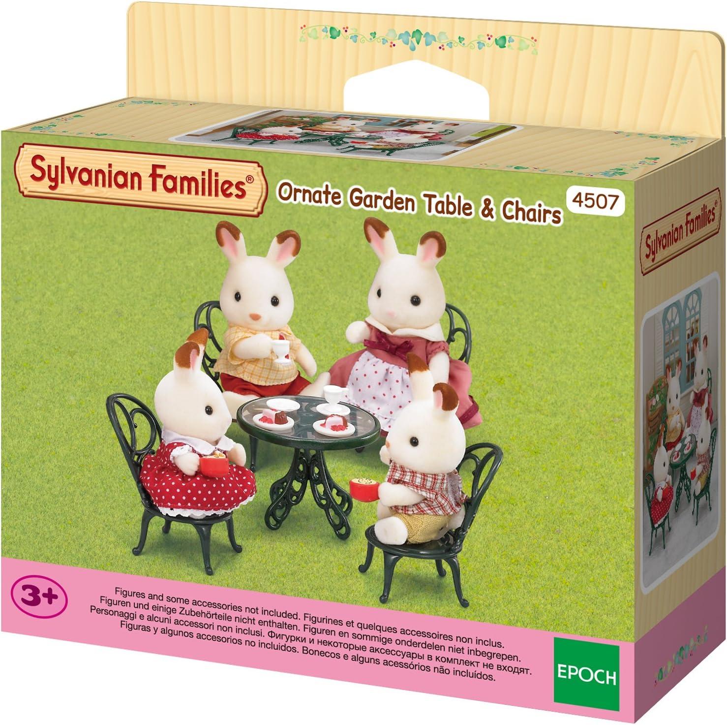 Amazon.es: Sylvanian Families - Mesa y sillas de jardín (2242): Juguetes y juegos
