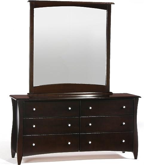 Amazon Com Night Day Furniture Clove 6 Drawer Chocolate Dresser