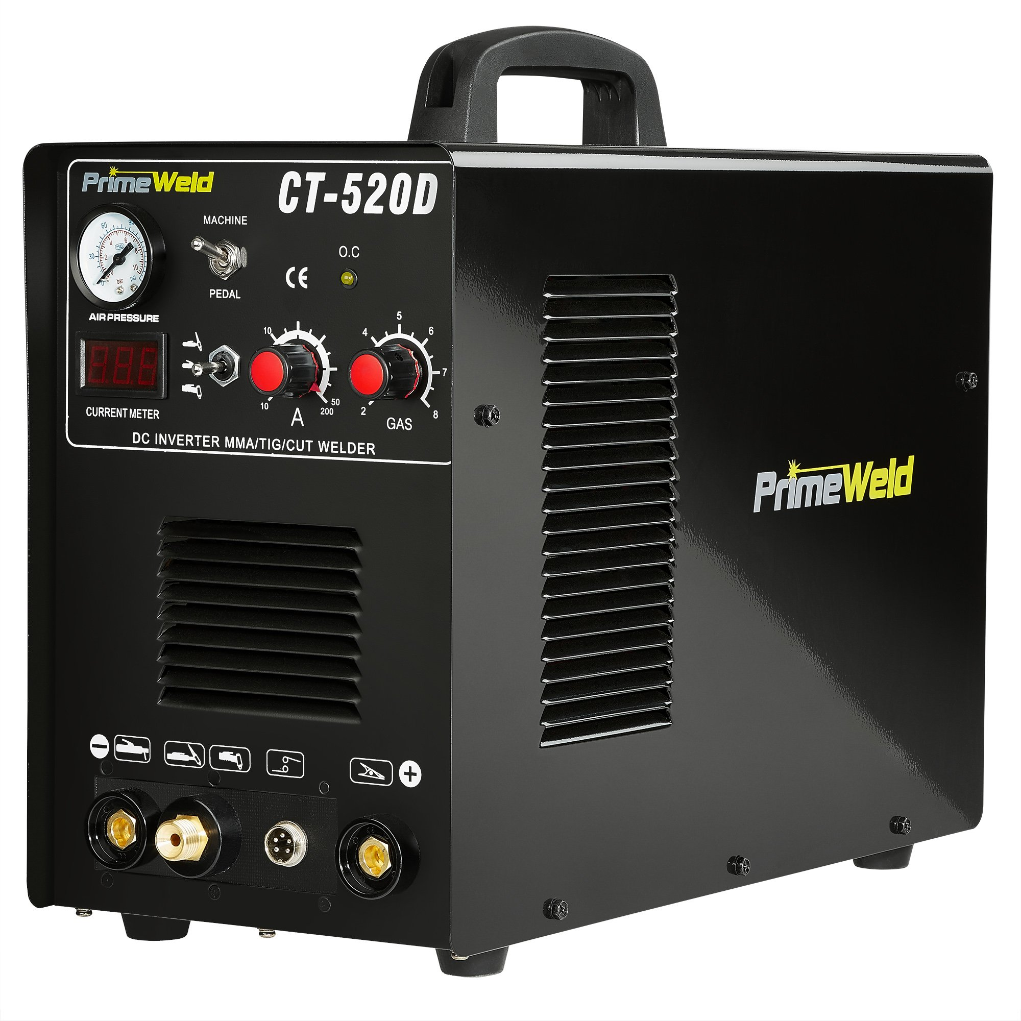 PrimeWeld Ct520d 50 Amps Plasma Cutter, 200 Amps Tig Welder and 200 Amps Stick Welder Combo by PRIMEWELD