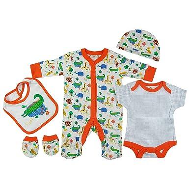 5f90a6a20 Baby-Girls White Orange Safari Animals Presents Gifts for Newborn ...