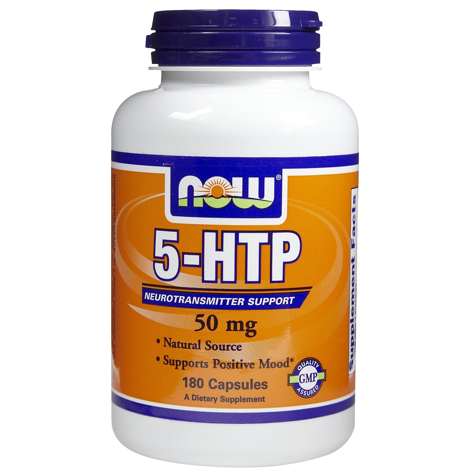 NOW Foods 5-HTP 50 mg - 180 Capsules
