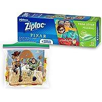 Saco Hermético Ziploc Para Levar Pixar Sortido, 25 Sacos, Tamanho Pequeno