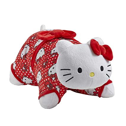 Amazon.com: Almohada para mascotas Sanrio rojo lunares Hello ...