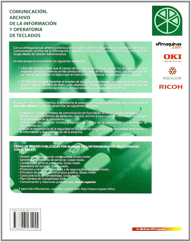 Comunicacion y archivo CFGM: Amazon.es: Cadianos: Libros
