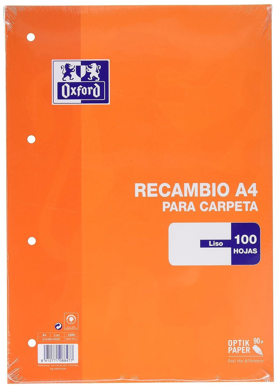 Oxford Classic 100430209 - Recambio hojas sueltas, A4 Hamelin Brands