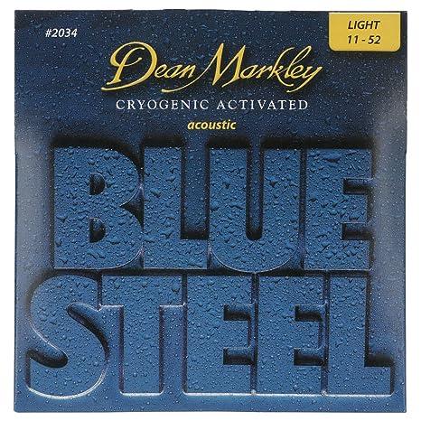 Dean Markley Blue Steel Acoustic LT 2034 - Juego de cuerdas para guitarra acústica de acero