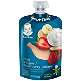 Gerber Purees Strawberry Banana Yogurt Toddler Pouch, 3.5 Ounces (Pack of 12)