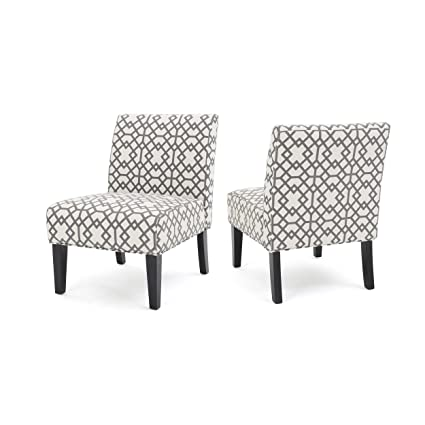 Super Gdf Studio Amethyst Grey Geometric Patterned Fabric Accent Ocoug Best Dining Table And Chair Ideas Images Ocougorg