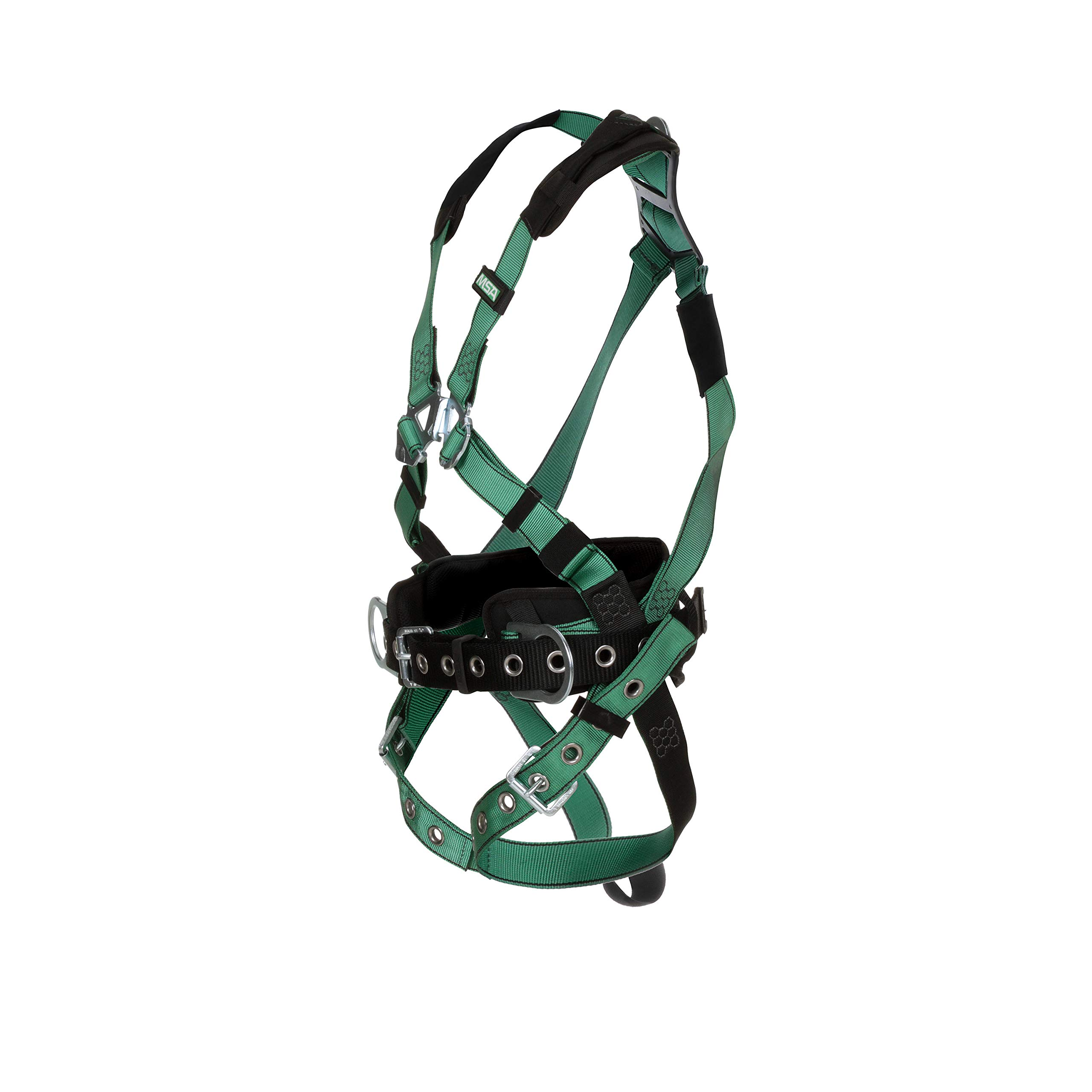 Back D-Ring MSA 10197160 V-Form Harness Tongue Buckle Leg Straps Extra Large