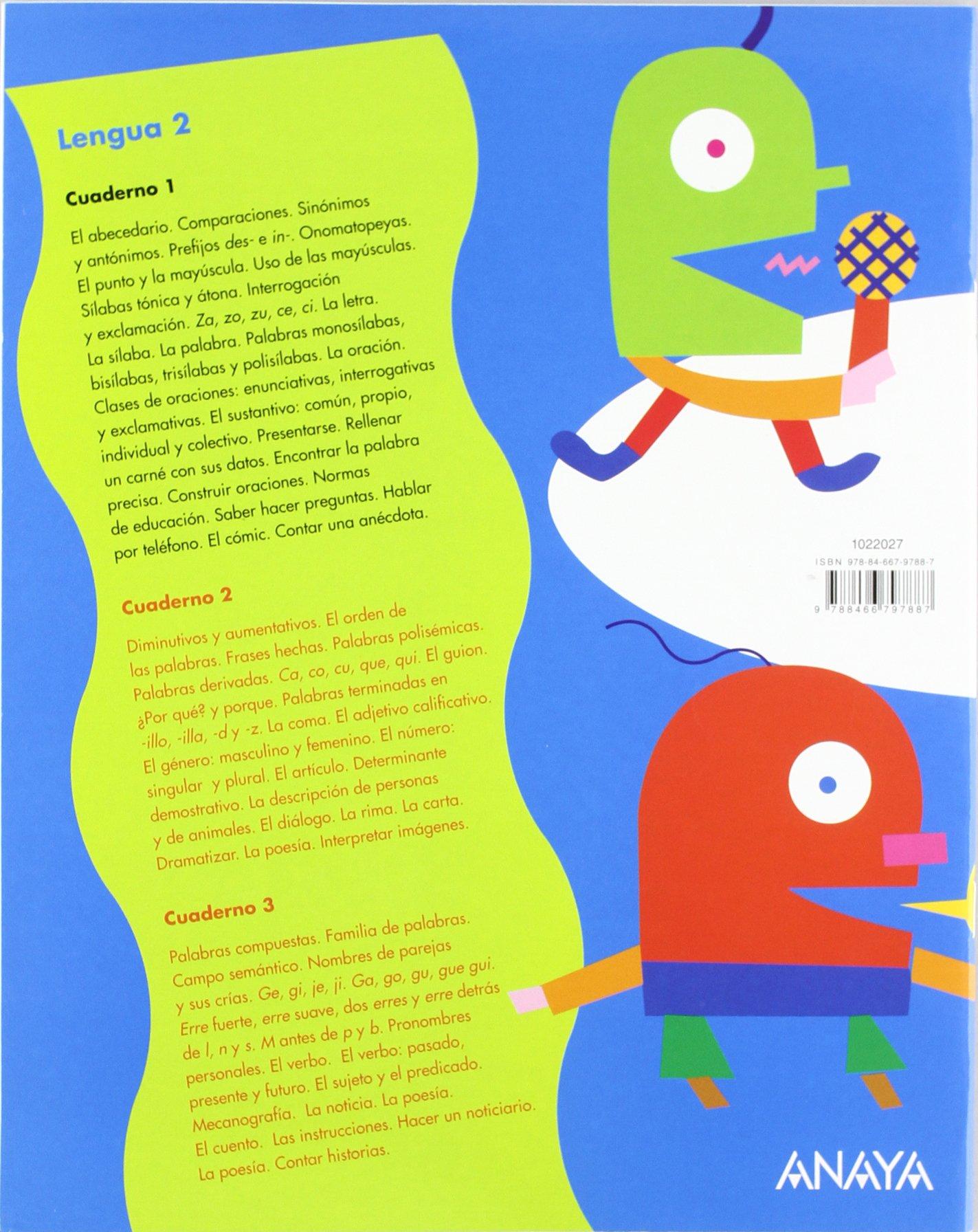 Lengua 2. Cuaderno 1. (UNA A UNA): Amazon.es: Emma Pérez Madorrán, Lourdes González López, M.ª Teresa Muiño Blasco: Libros