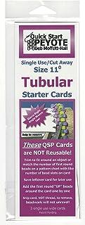 Quick Start Peyote Singe Use Cards for Tubular Peyote Stitch