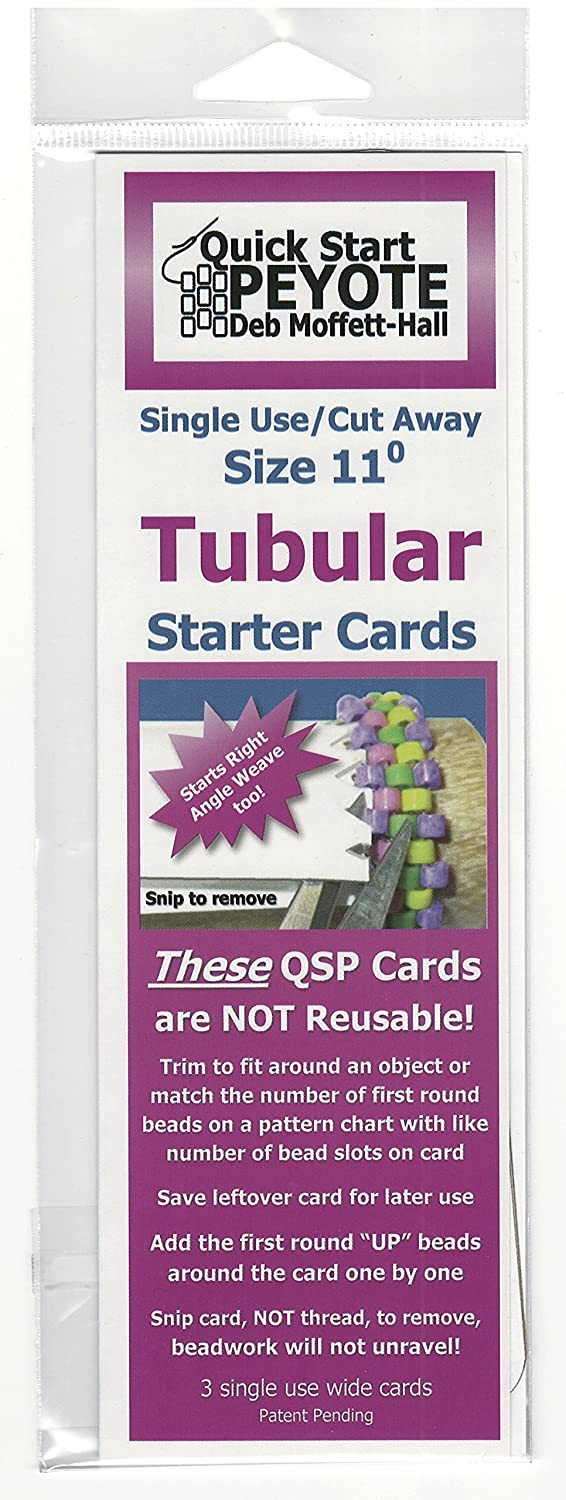 Quick Start Peyote Singe Use Cards for Tubular Peyote Stitch Patterns to Bead 4336806919