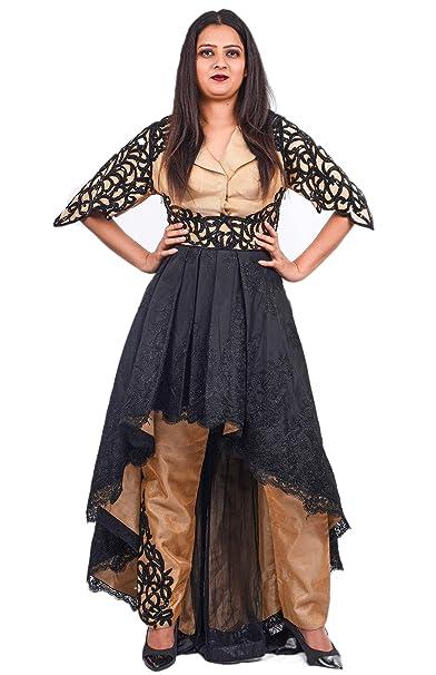 Nakoda S Boutique Women S High Low Pattern Suit Designer