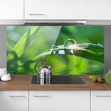 Bilderwelten Spritzschutz Glas - Green Ambiance II - Quer 1:2 ...