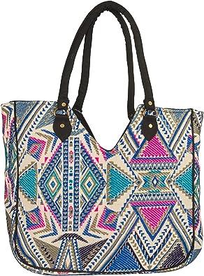 tote bag beach bag shoulder bag geometric  tote bag