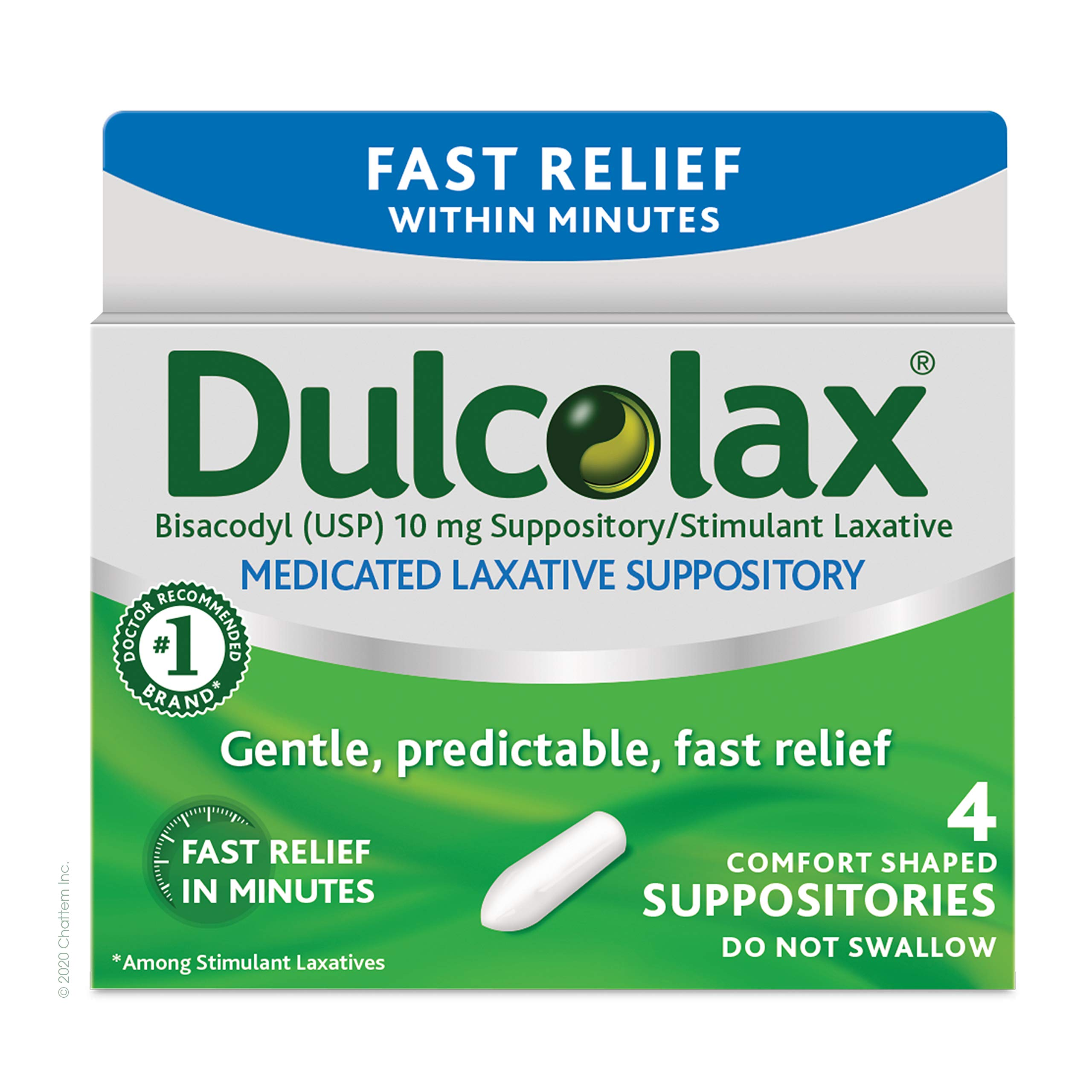 Dulcolax Laxative Suppositories, 4 Count
