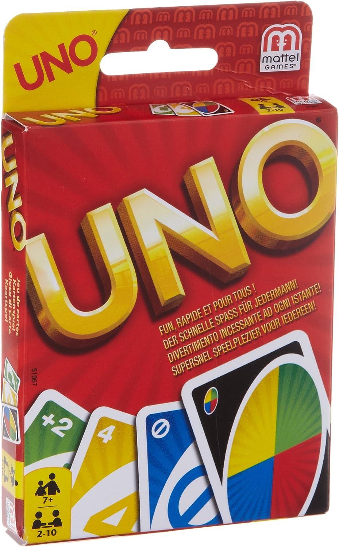 Mattel - UNO, juego de cartas (51967) - [versión alemana]: Amazon ...