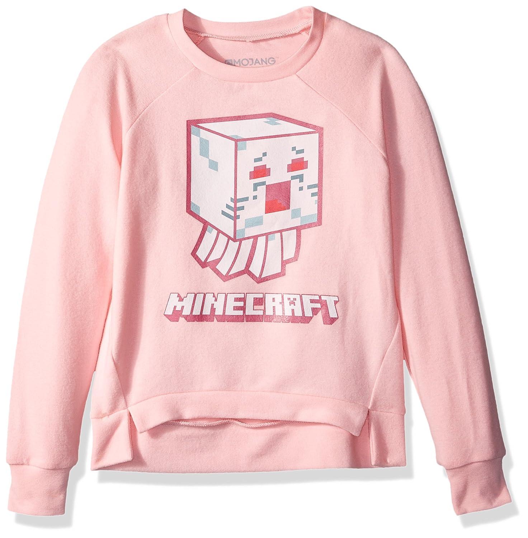 eeaf25413a3bc Amazon.com: Minecraft Big Mini Mobs Ghast Girls' Hacci Pullover by ...