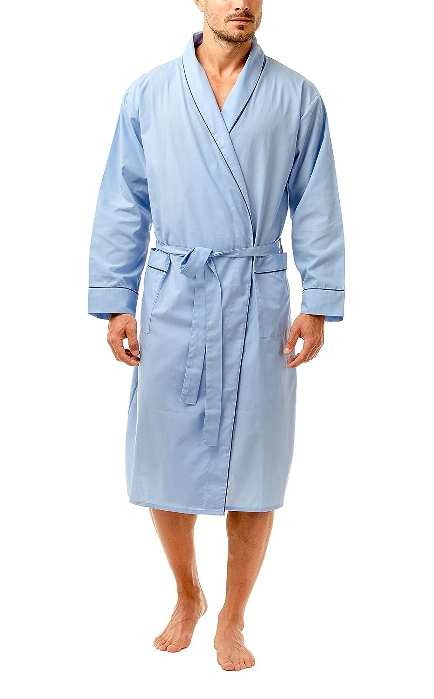 Haigman Men's Easy Care Dressing Gown Bath Robe with Cotton Sleepwear Nightwear 7390