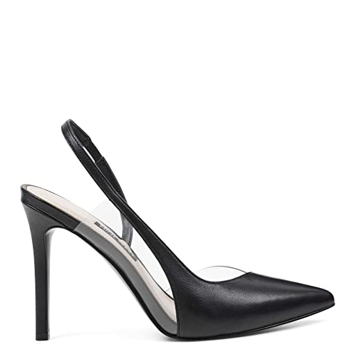 Nine Toffee West Women's Pump Pointed Toe Slingback SMVpqUzG