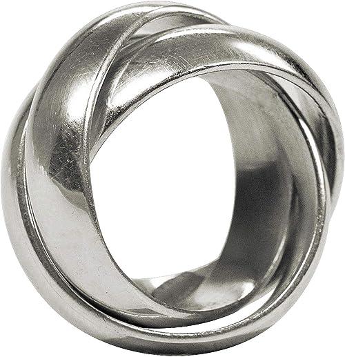 SILBERMOOS Ring Damen Wickelring Verlobung Kordel Sterling Silber 925
