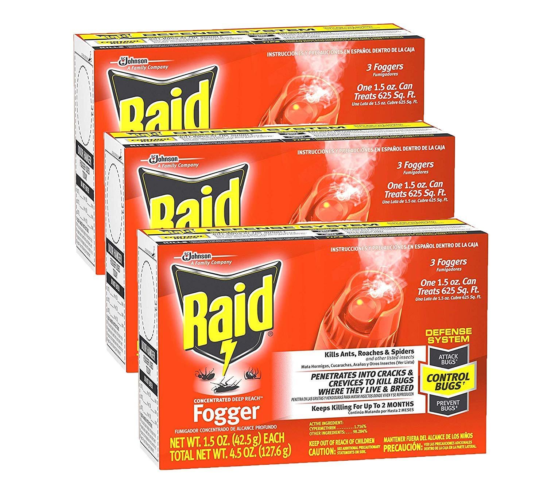 Raid Concentrated Deep Reach Fogger, 1.5 OZ, 3 CT (Pack - 3) by Raid