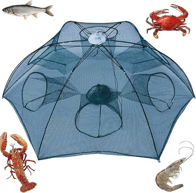 Folded Fishing Net Small Fish Shrimp Minnow Crab Baits New Cast Trap Mesh K0N2