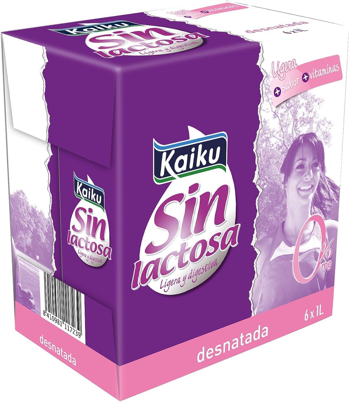 Kaiku Leche sin Lactosa UHT Desnatada - Paquete de 6 x 1000 gr - Total: 6000 gr: Amazon.es: Alimentación y bebidas