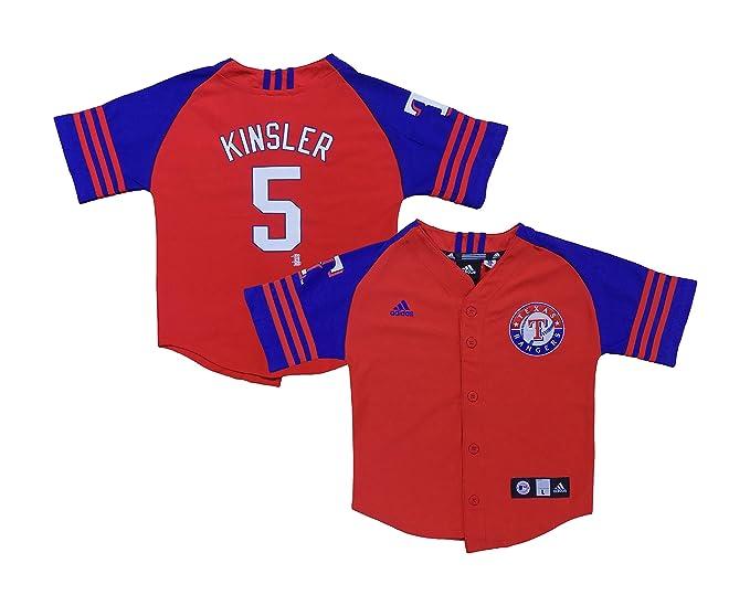 big sale a307c ca40a Amazon.com: Outerstuff Ian Kinsler Texas Rangers Blue Red ...