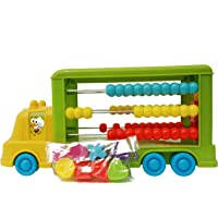 Toyhouse Abacus Building Blocks of Cars, Yellow