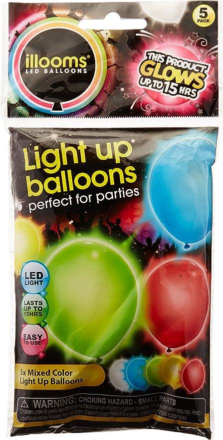 LED Luz GLOBOS PACK DE 5 illooms Nuevo Color Azul