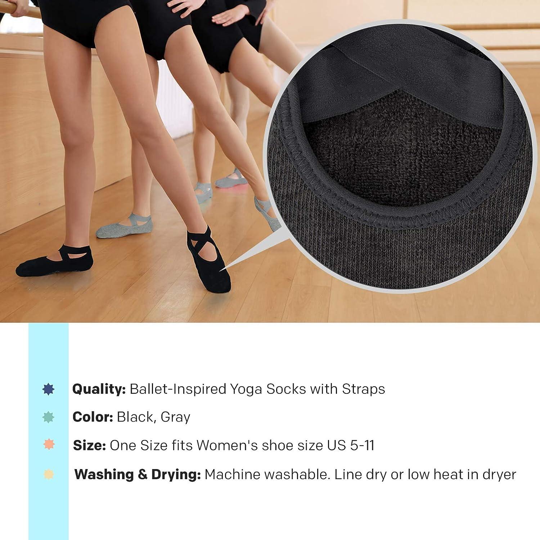 Comfy Degree Non Slip Yoga Socks for Women Anti-skid Pilates Barre Bikram Studio Socks with Grips