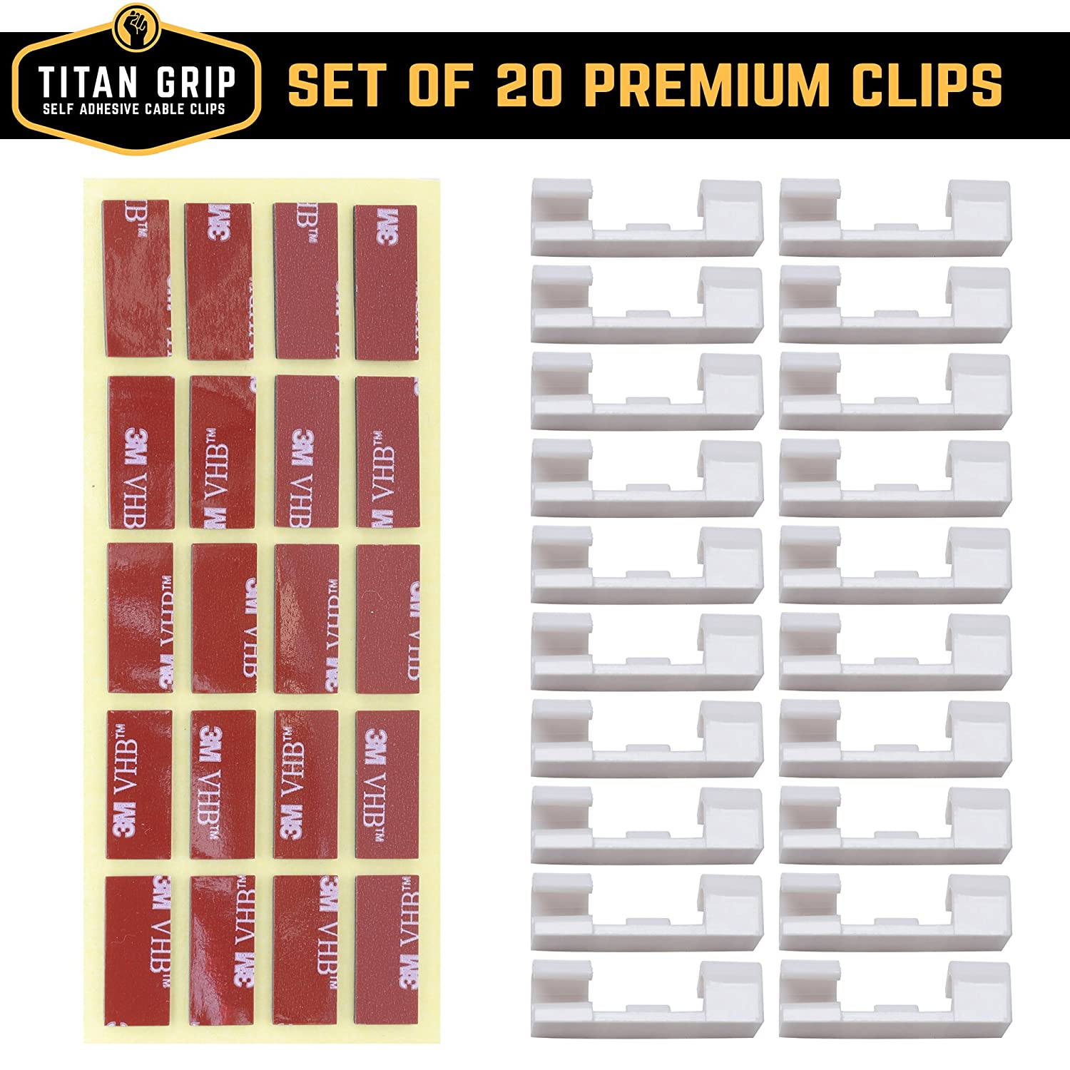 Cable Clips With Strong Self Adhesive Pads No Tools Post Back Questions Obviously Since Your Wiring Has Been Altered Required Organize Cords And Wires For A Clean Beautiful Home Or Office Set Of 20