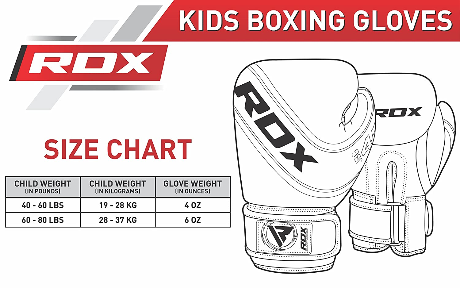 Amazon Rdx Kids Boxing Gloves Maya Hide Leather 4oz 6oz Junior