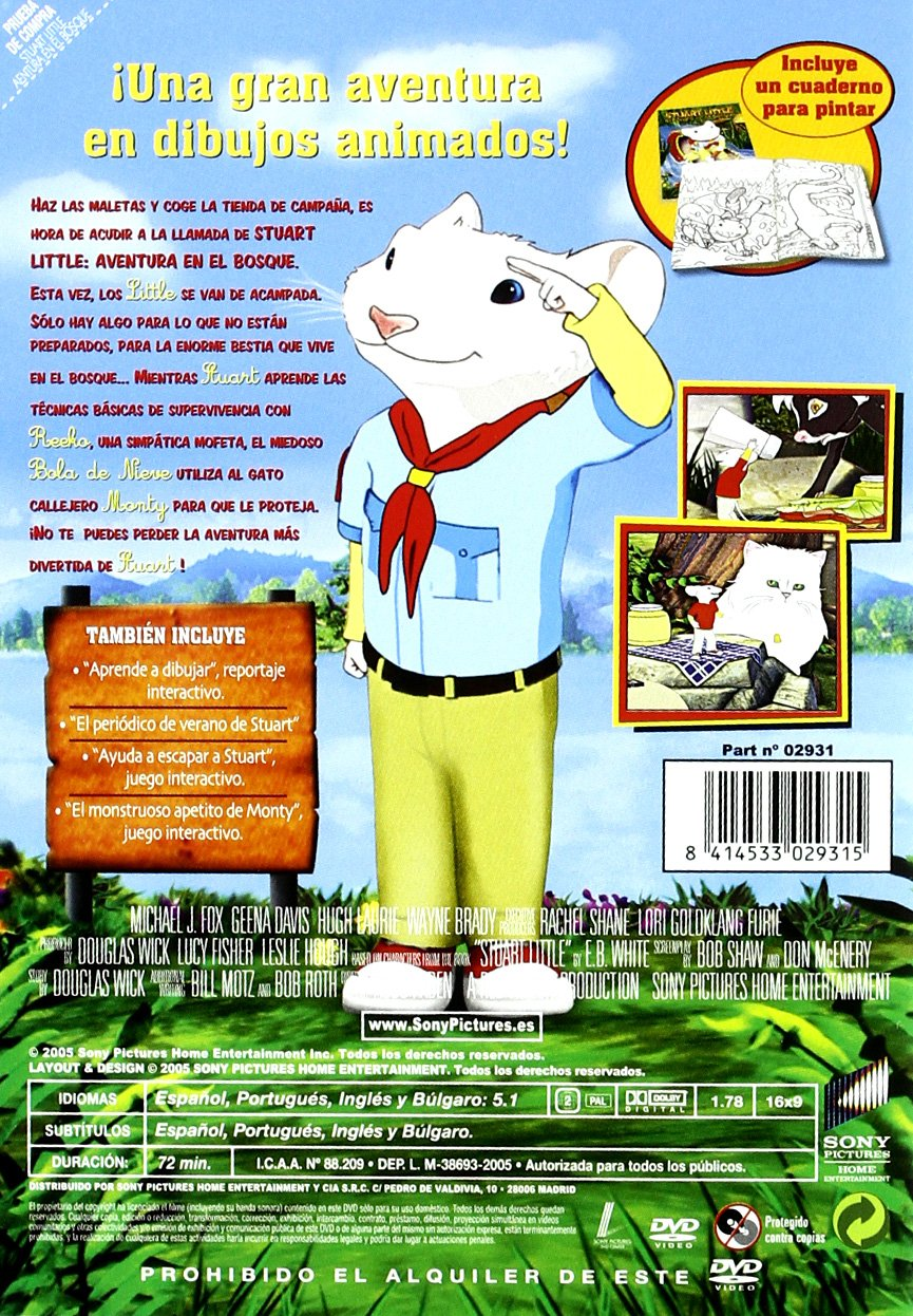 Amazon.com: Stuart Little 3 (Import Movie) (European Format - Zone 2) (2005) Michael J Fox; Geena Davis; Hugh Laurie; W: Movies & TV