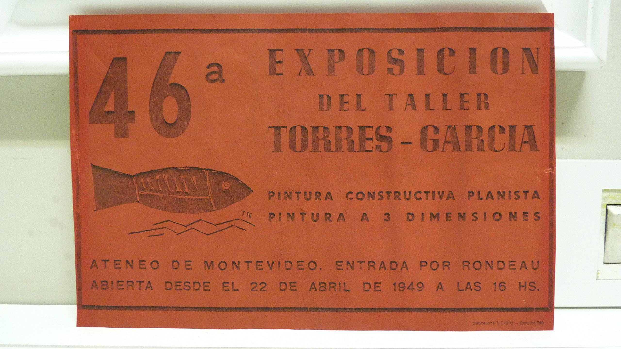 Cartel: 46a Exposición del Taller Torres - García. Pintura ...